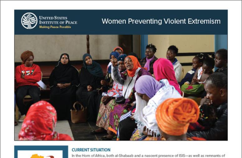 Women Preventing Violent Extremism