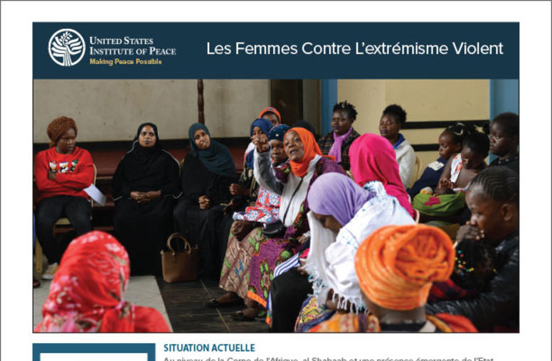 Women Preventing Extremist Violence (French)