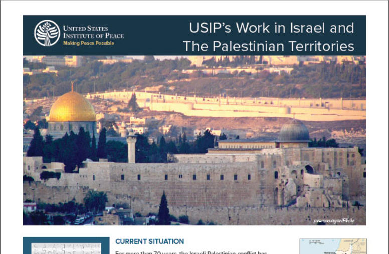 The Current Situation: Israel, The Palestinian Territories, and the Arab-Israeli Conflict