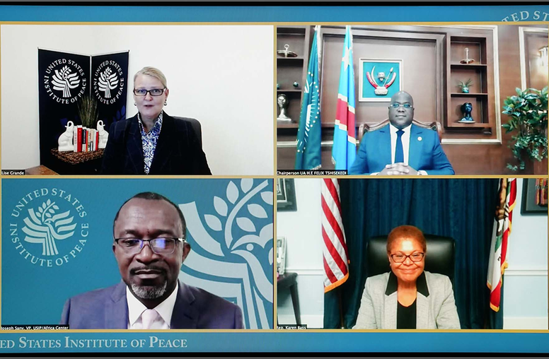 Africa at the Crossroads: A Conversation with DRC President and AU Chair Félix Tshisekedi and Rep. Karen Bass (D-CA)