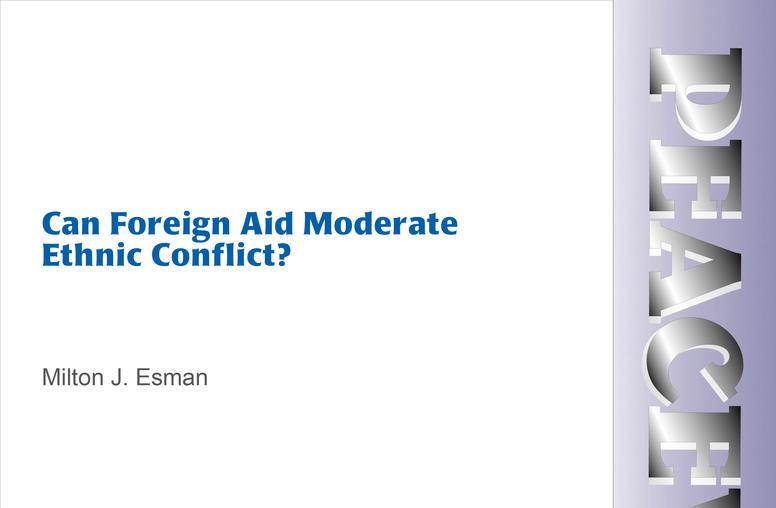 Can Foreign Aid Moderate Ethnic Conflict?