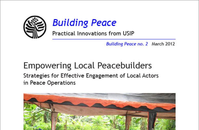 Empowering Local Peacebuilders