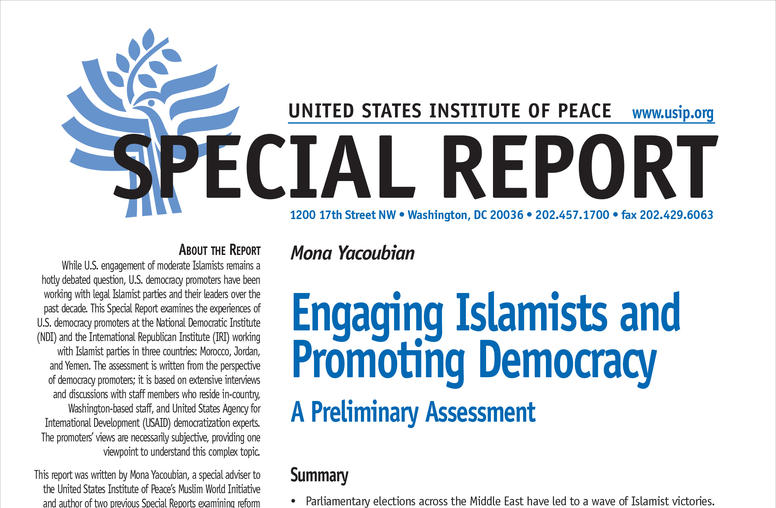 Engaging Islamists and Promoting Democracy: A Preliminary Assessment