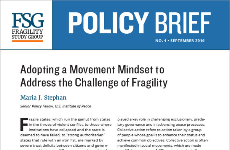 Adopting a Movement Mindset to Address the Challenge of Fragility