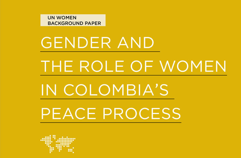 Gender and the Role of Women in Colombia's Peace Process