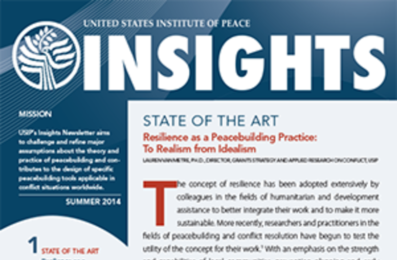 Summer 2014 Insights Newsletter - Resilience