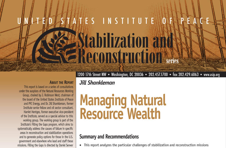 Managing Natural Resource Wealth
