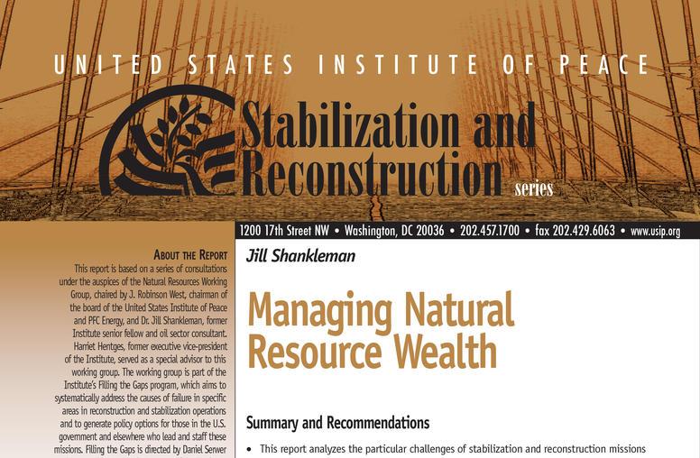 Managing Natural Resource Wealth