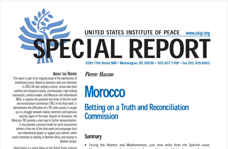 Morocco: Betting on a Truth and Reconciliation Commission