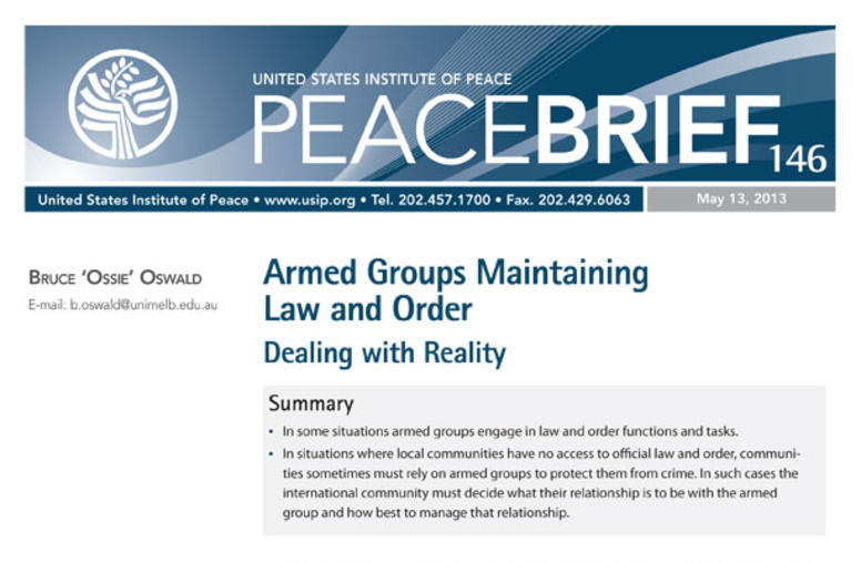 Armed Groups Maintaining Law and Order