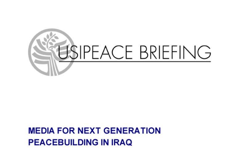 Media for Next Generation Peacebuilding in Iraq
