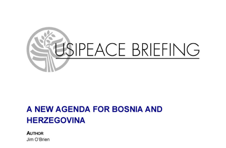 A New Agenda for Bosnia and Herzegovina