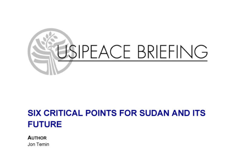Six Important Issues for Sudan and Its Future