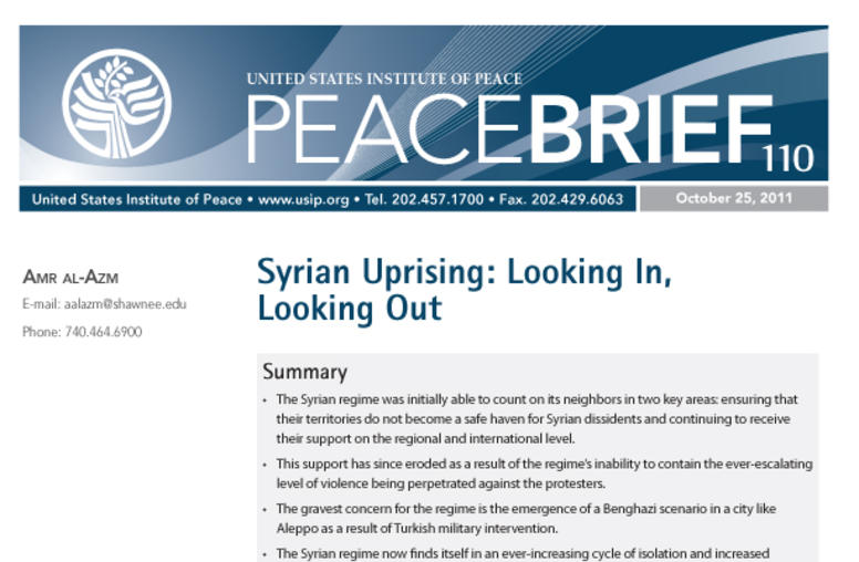 Syrian Uprising: Looking In, Looking Out