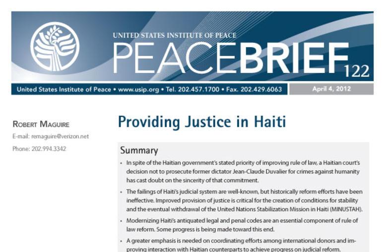 Providing Justice in Haiti