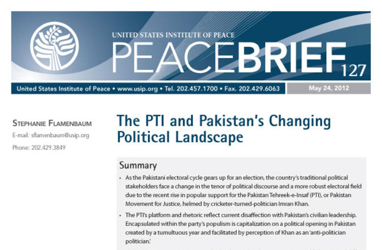The PTI and Pakistan's Changing Political Landscape