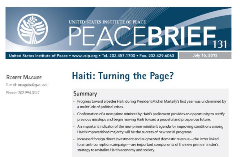 Haiti: Turning the Page?