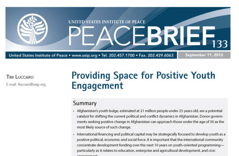 Providing Space for Positive Youth Engagement