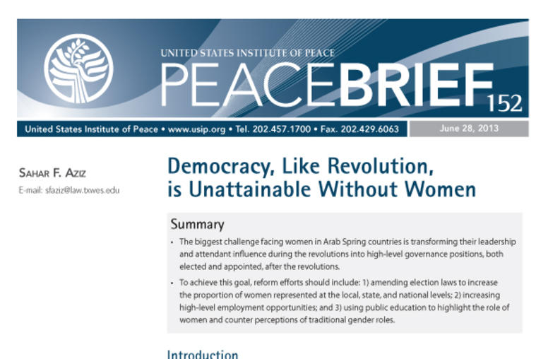 Democracy, Like Revolution, is Unattainable Without Women