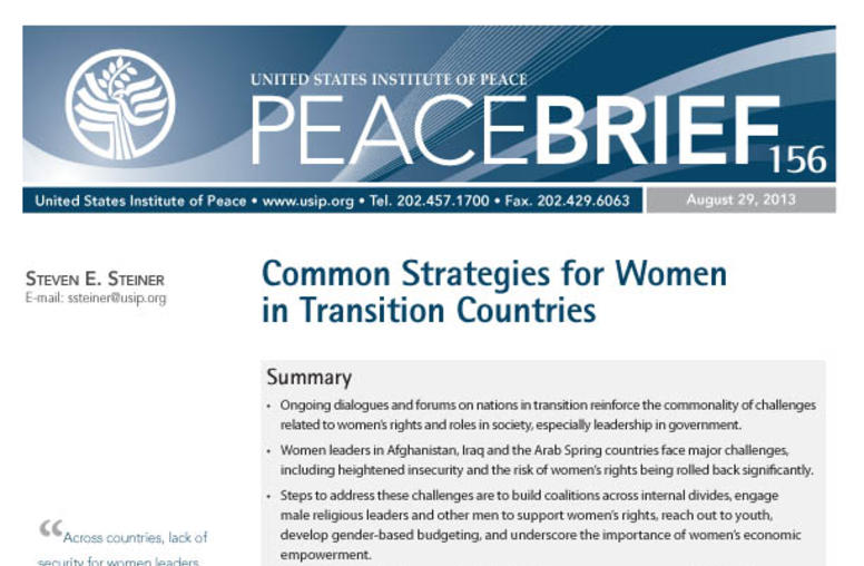 Common Strategies for Women in Transition Countries