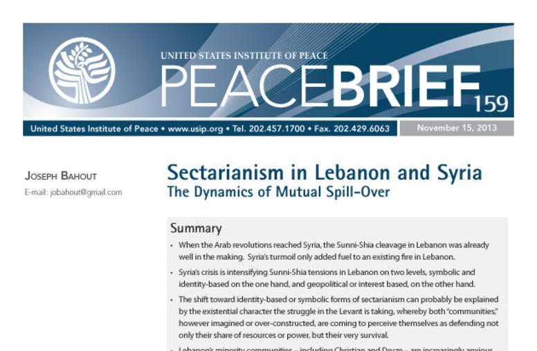 Sectarianism in Lebanon and Syria