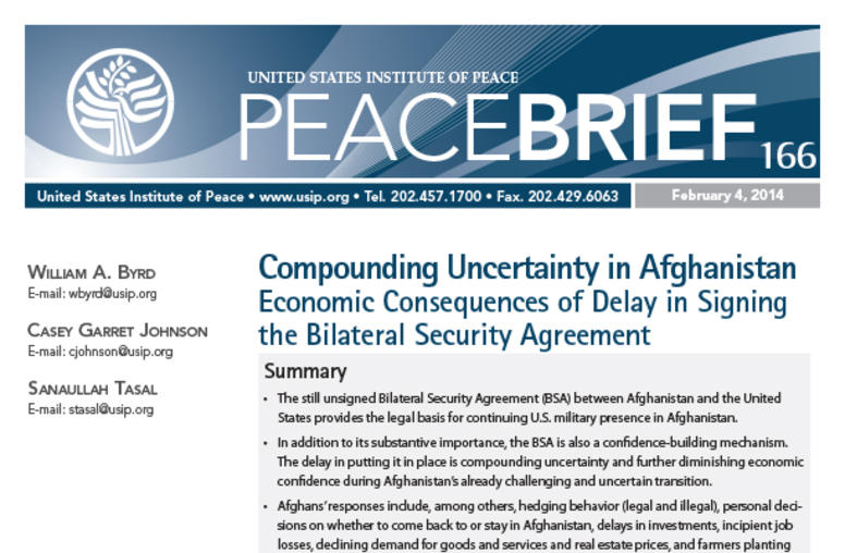Compounding Uncertainty in Afghanistan