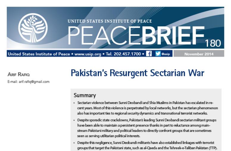 Pakistan's Resurgent Sectarian War