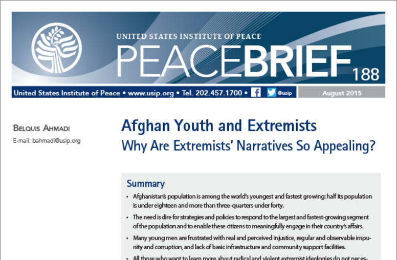 Afghan Youth and Extremists