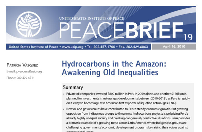 Hydrocarbons in the Amazon: Awakening Old Inequalities