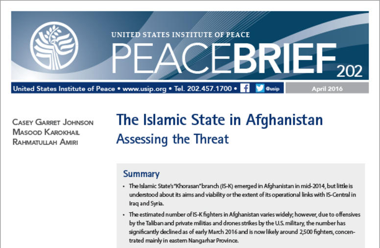 The Islamic State in Afghanistan: Assessing the Threat