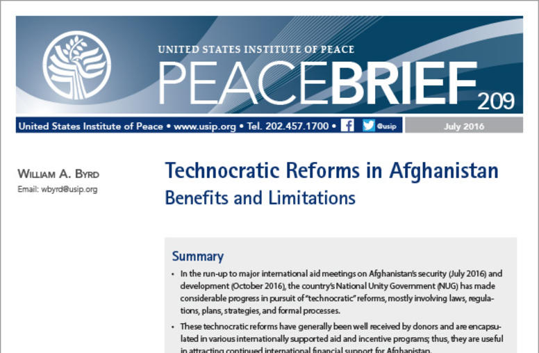 Technocratic Reforms in Afghanistan: Benefits and Limitations