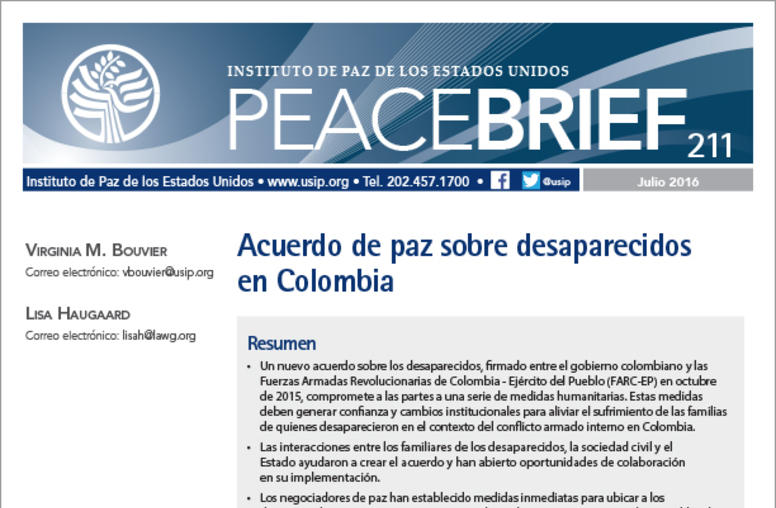 Colombia's Peace Accord on the Missing (Spanish)