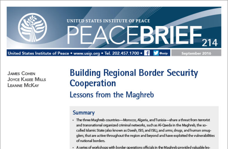 Building Regional Border Security Cooperation: Lessons from the Maghreb