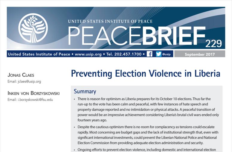 Preventing Election Violence in Liberia
