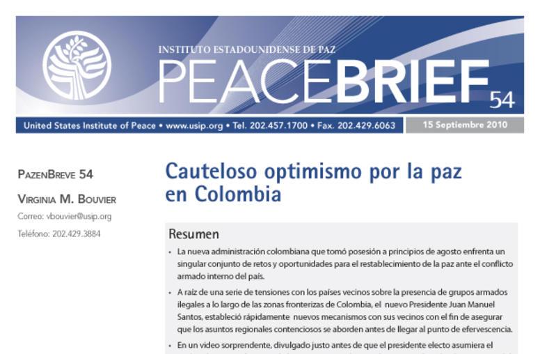 Cauteloso optimismo por la paz en Colombia (edición español)