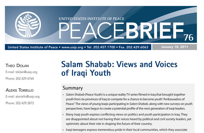 Salam Shabab: Views and Voices of Iraqi Youth
