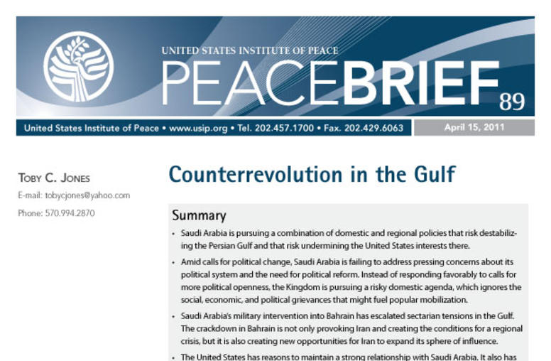 Counterrevolution in the Gulf