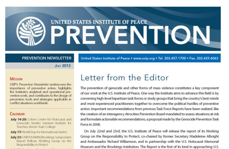 July Prevention Newsletter