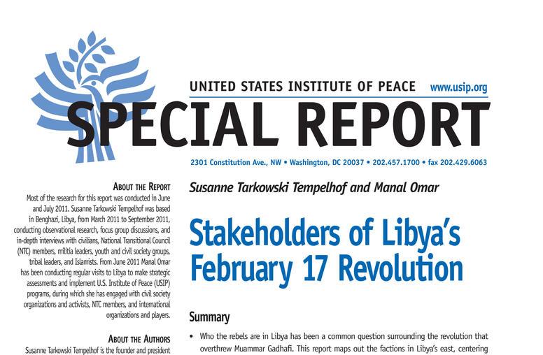 Stakeholders of Libya's February 17 Revolution