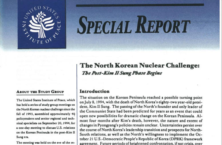 The North Korean Nuclear Challenge: The Post–Kim Il Sung Phase Begins