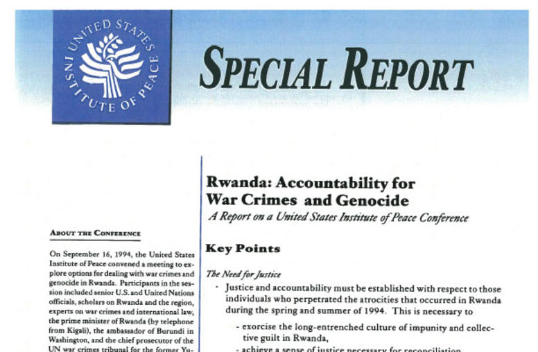 Rwanda: Accountability for War Crimes and Genocide