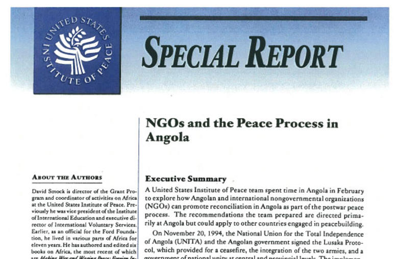 NGOs and the Peace Process in Angola