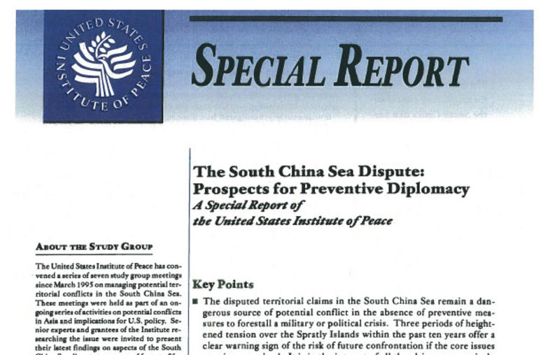 The South China Sea Dispute: Prospects for Preventive Diplomacy