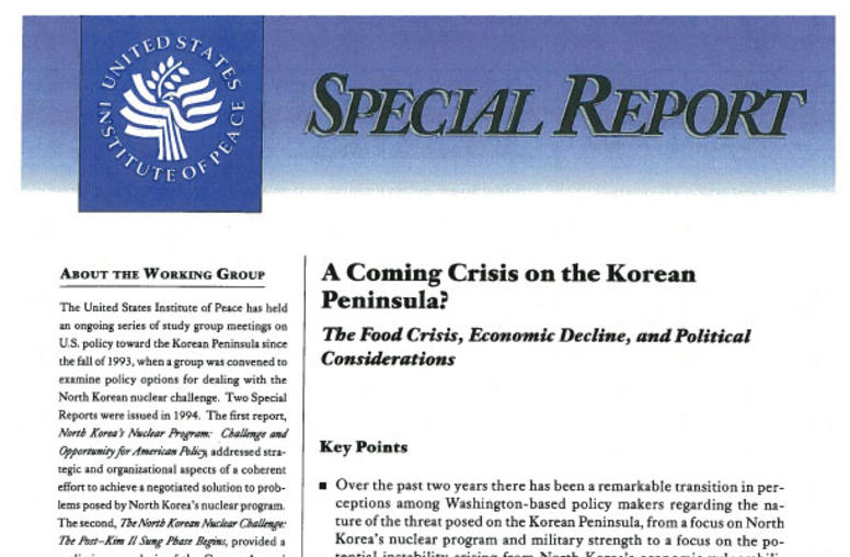 A Coming Crisis on the Korean Peninsula? The Food Crisis, Economic Decline, and Political Considerations