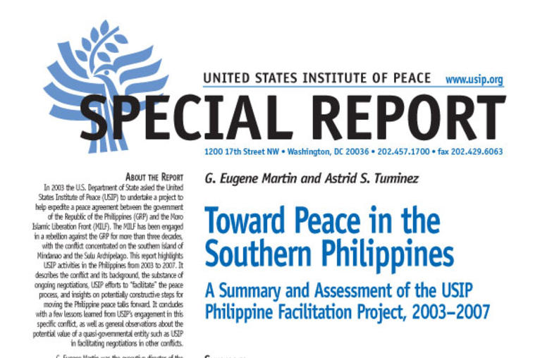 Toward Peace in the Southern Philippines