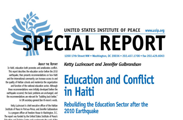 Education and Conflict in Haiti