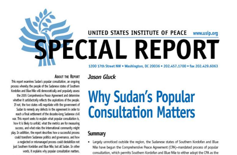 Why Sudan's Popular Consultation Matters