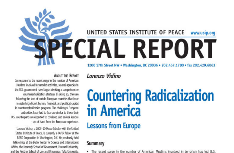 Countering Radicalization in America
