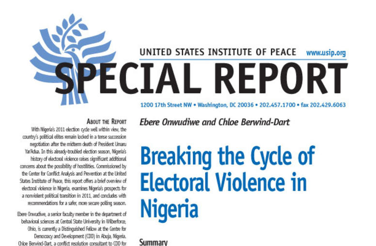 Breaking the Cycle of Electoral Violence in Nigeria