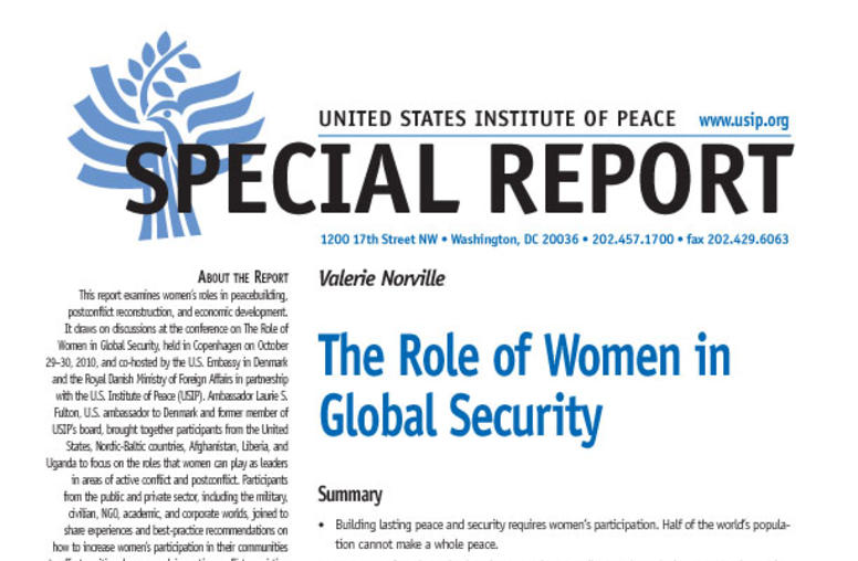 The Role of Women in Global Security